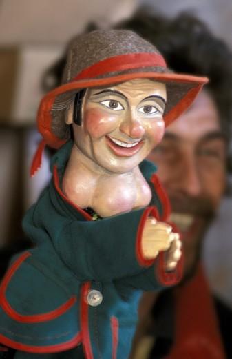 puppets, bergamo, italy : Stock Photo