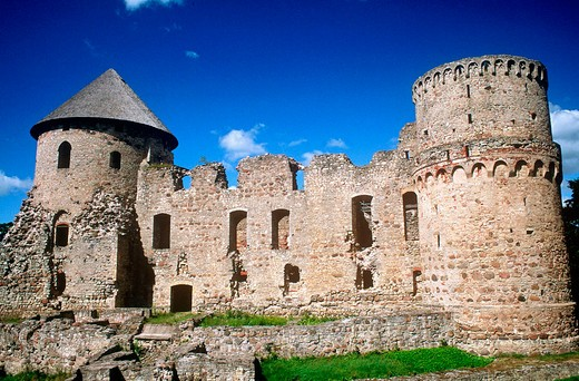 europe, latvia, cesis, castle : Stock Photo