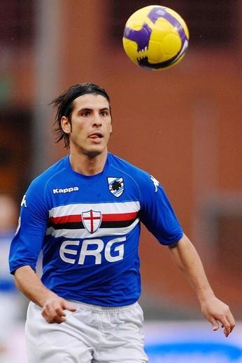 pietro accardi ,genova 18_01_2009 ,serie a football championship 2008_2009 ,sampdoria _ palermo 0_2 ,photo alessandro pintimalli/markanews : Stock Photo