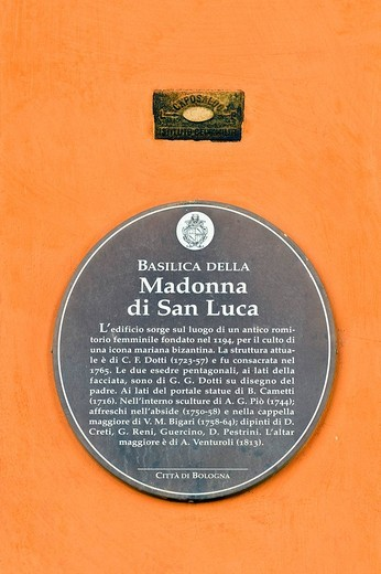 Stock Photo: 3153-705809 Sanctuary of the Madonna of San Luca, bologna, emilia romagna, italy