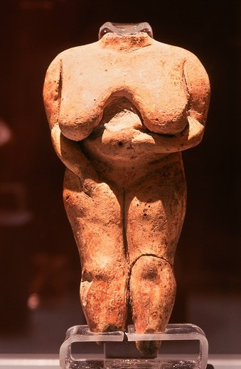 europe, malta, valletta, archaeological museum, venus of malta : Stock Photo