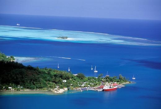french polynesia, bora bora, lagoon, west coast : Stock Photo