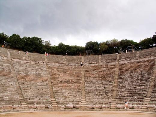 Stock Photo: 3153-707886 teatro di epidauro, peloponneso, grecia