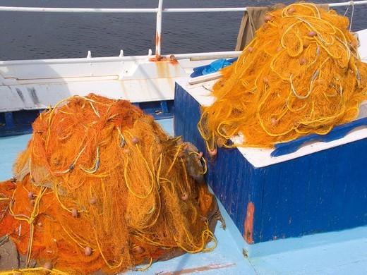 Stock Photo: 3153-707895 reti da pesca, peschereccio, skyros, sporadi, grecia