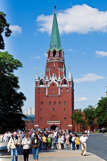 kremlin: trinity tower, moscow, russia : Stock Photo
