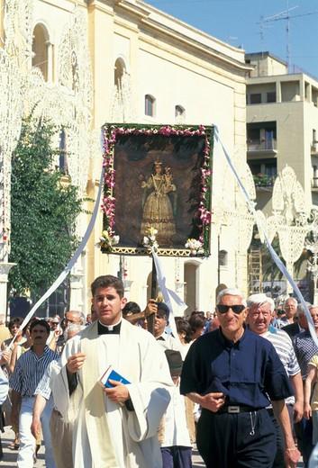madonna della bruna procession, matera, italy : Stock Photo