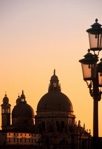 europe, italy, veneto, venice, santa maria della salute : Stock Photo