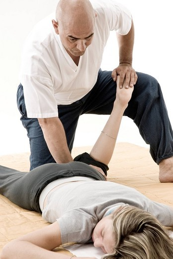 Stock Photo: 3153-709285 shiatsu massage