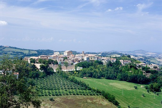 europe, italy, marche, monbaroccio : Stock Photo