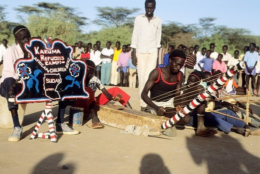 Stock Photo: 3153-710980 africa, kenya, kakuma refugees camp, kakuma refugees band