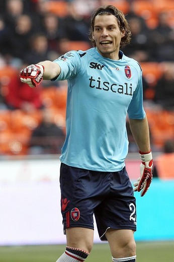 federico marchetti, milano 2009, serie a football championship 2008_2009, milan_cagliari : Stock Photo