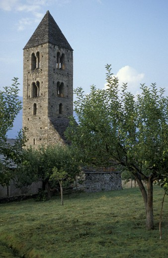 st. mary magdalen´s church, gressan, italy : Stock Photo
