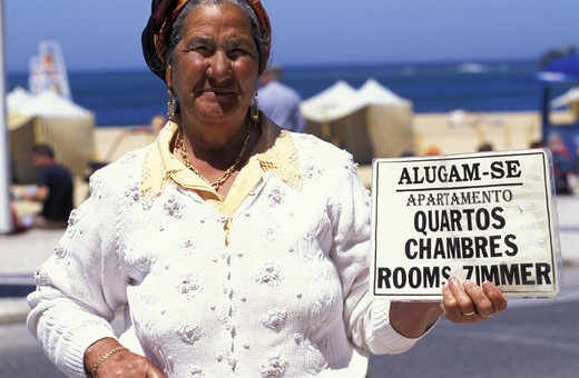 typical woman, nazare´, portugal : Stock Photo