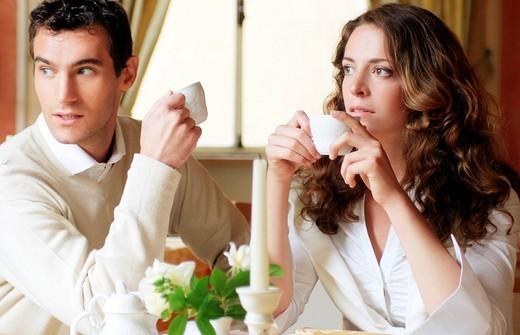 Stock Photo: 3153-716953 couple, coffee