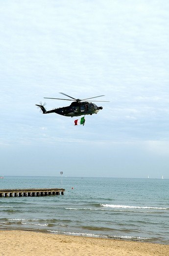 Stock Photo: 3153-717341 helicopter of the italian air force, jesolo, veneto, italy
