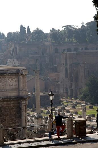 roman forum, rome, lazio, italy : Stock Photo