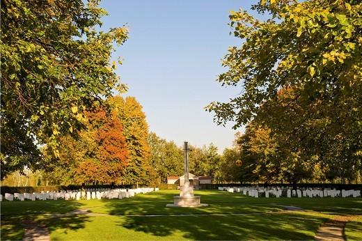 cimitero di guerra britannico, milano, lombardia, italia : Stock Photo