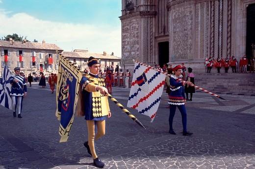Stock Photo: 3153-718861 europe, italy, umbria, orvieto, corpus domini