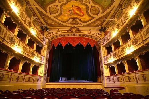 teatro verdi, busseto, emilia romagna, italia : Stock Photo