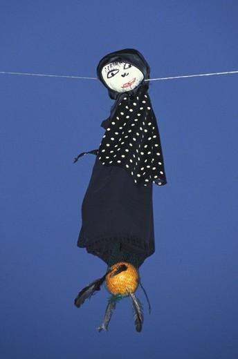 ´la quarantana´ puppet, lucera, italy : Stock Photo