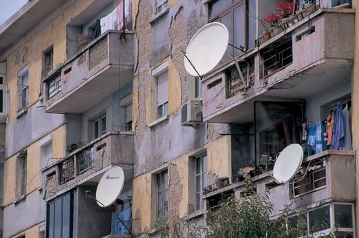 tirana, view of buildings : Stock Photo