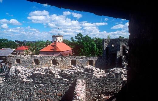 europe, latvia, cesis, castle : Stock Photo