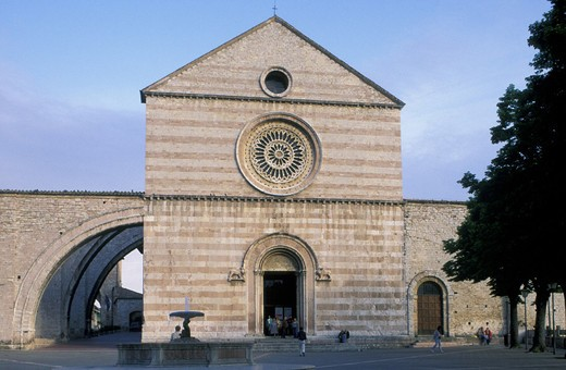 st clara church, assisi, italy : Stock Photo