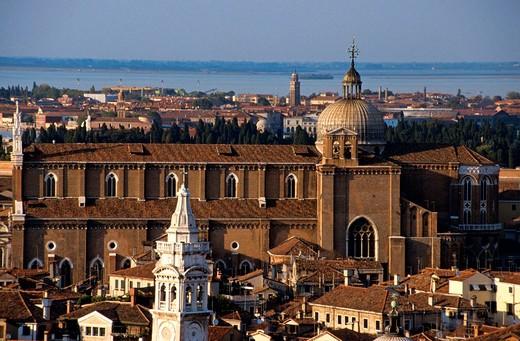 europe, italy, veneto, venice, basilica of san giovanni e paolo : Stock Photo