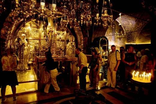 Stock Photo: 3153-725420 basilica del santo sepolcro, gerusalemme, israele, medio oriente, asia