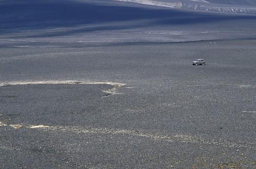 lava flow and hekla volcano, hekla, iceland : Stock Photo