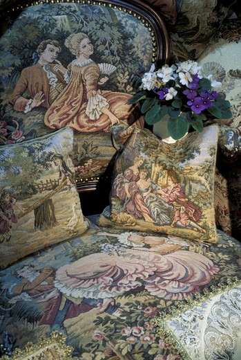 gobelins tapestry fabric, brussels, belgium : Stock Photo