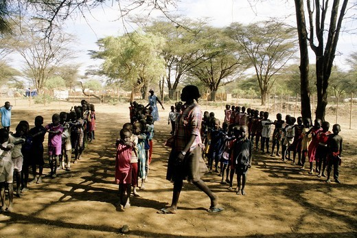 africa, kenya, kakuma refugees camp, sudanese children : Stock Photo