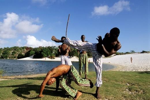 capoeira, salvador de bahia, brazil : Stock Photo
