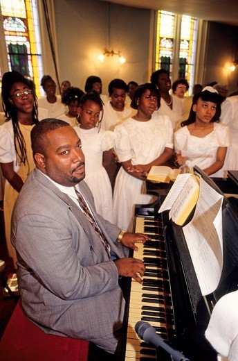 Gospel at the First African Baptist Church. Savannah, Georgia, U.S.A. : Stock Photo