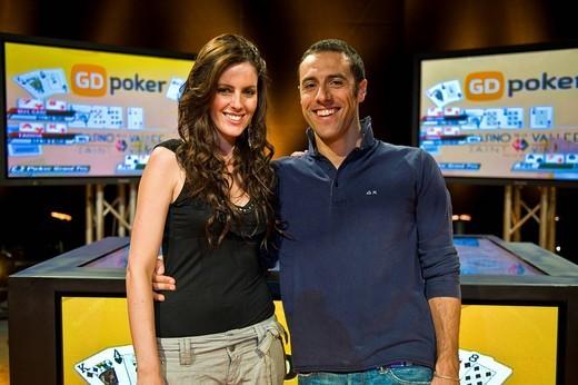 Stock Photo: 3153-727400 Nathalie Goitom e Cristiano Ruiu, Poker digitale show, Tele Lombardia