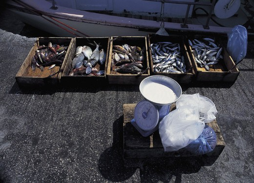 greece, cyclades, milos, adamas : Stock Photo