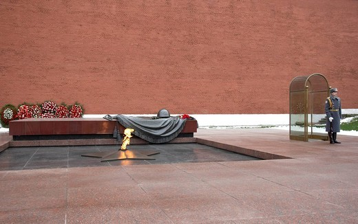 russia, moscow, red square, kremlin, tomb of the unknown soldier : Stock Photo