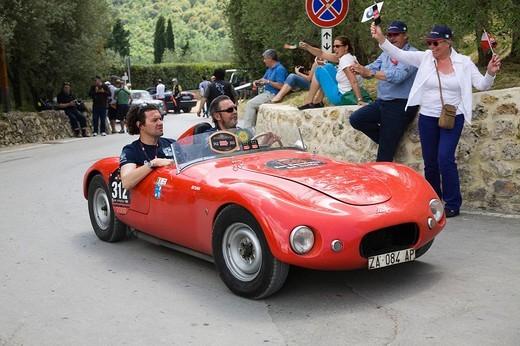 stanga 750 sport, mille miglia, monteriggioni, toscana, italia : Stock Photo
