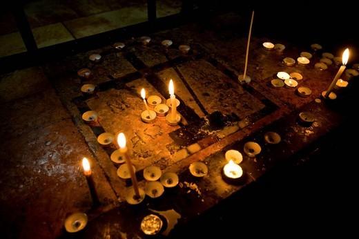 basilica del santo sepolcro, gerusalemme, israele, medio oriente, asia : Stock Photo