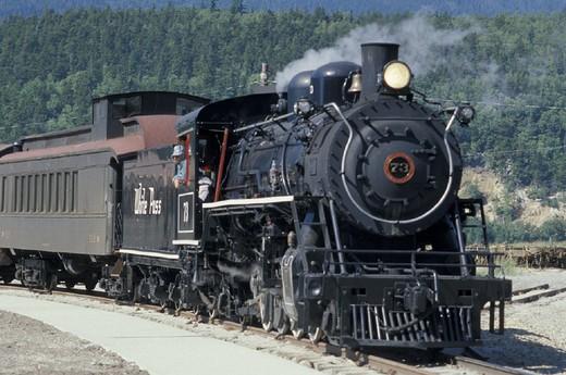 Stock Photo: 3153-731511 carcross-skagway train, skagway, usa