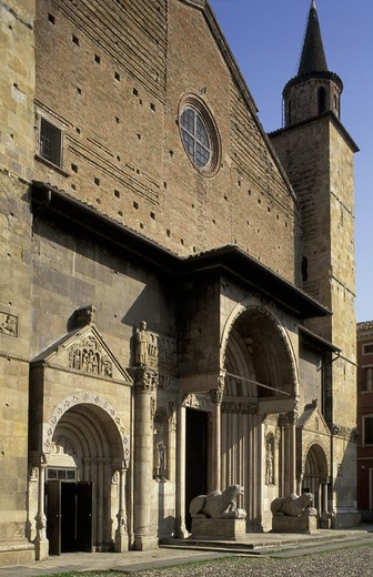cathedral, fidenza, italy : Stock Photo
