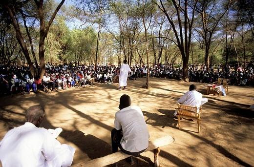 Stock Photo: 3153-734438 africa, kenya, kakuma refugees camp, mass