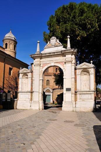 san vitale basilica, ravenna, emilia romagna, italy : Stock Photo