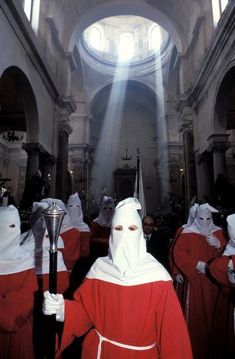 trapani, during the holy procession, sicily, italy : Stock Photo