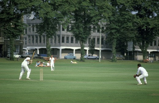 cricket match, cambridge, great britain : Stock Photo