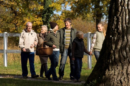 family, countryside : Stock Photo