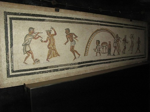 mosaic in the temple of diana, vatican museum, rome, lazio, italy : Stock Photo