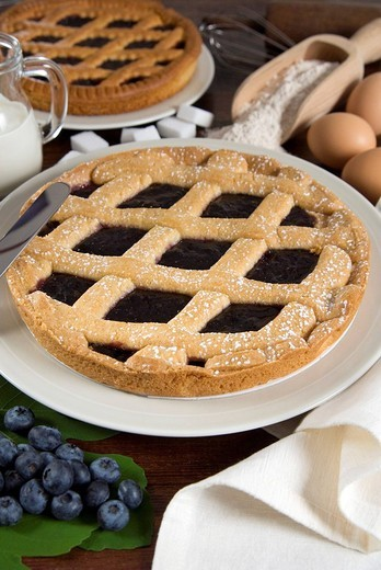 Stock Photo: 3153-740269 blueberry tarts
