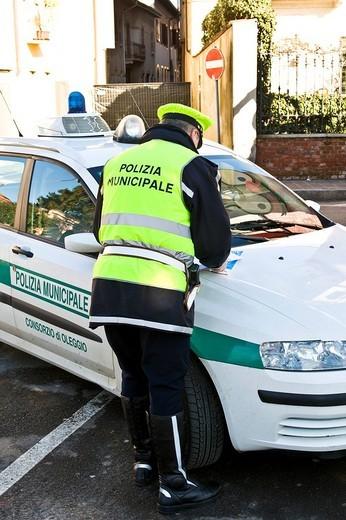 Stock Photo: 3153-740892 traffic policeman