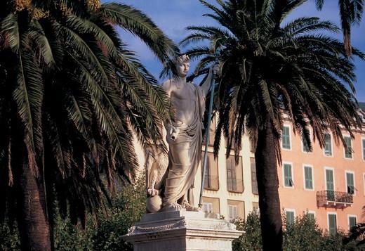 monument, saint nicolas square, bastia, corsica : Stock Photo